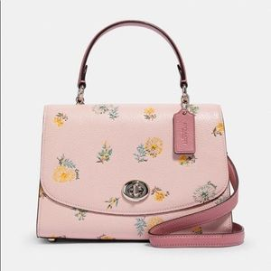 Coach Tilly Top Handle With Dandelion Floral Print